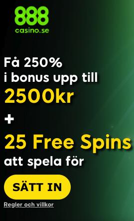 888 casino bonus erbjudande exklusivt svensknatcasino se