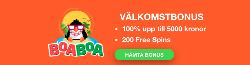 BoaBoa Välkomstbonus Banner Svensknatcasino Se