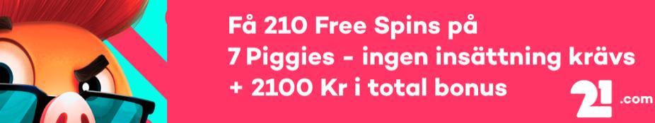 Erbjudande Logga 21.com Banner svensknätcasino se