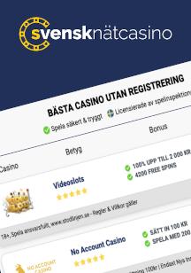 Välj ett casino utan registrering