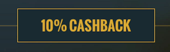 cashback no account casino