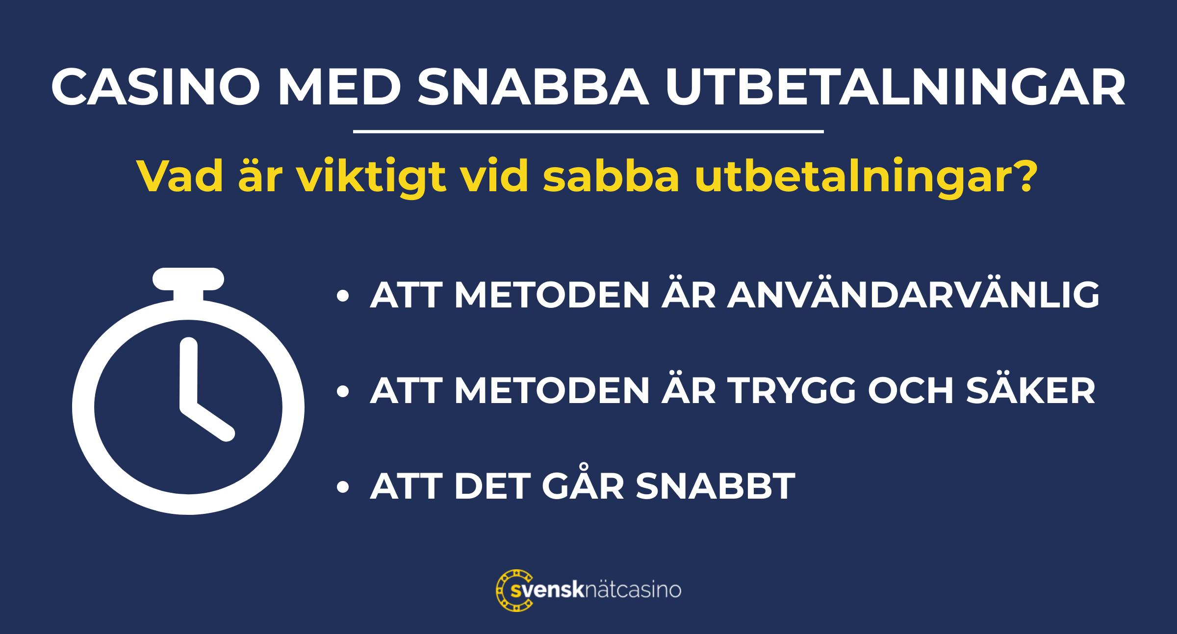 casinon med snabba uttag lista svensknatcasino