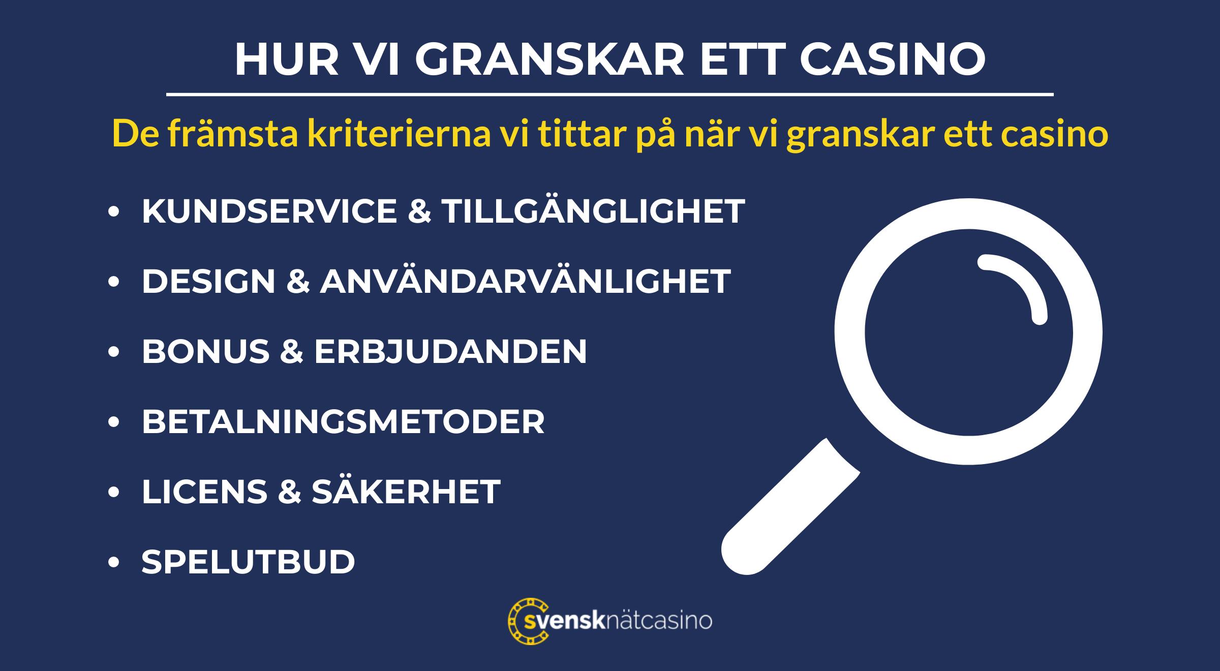 granskningskriterier casino svensknatcasino se