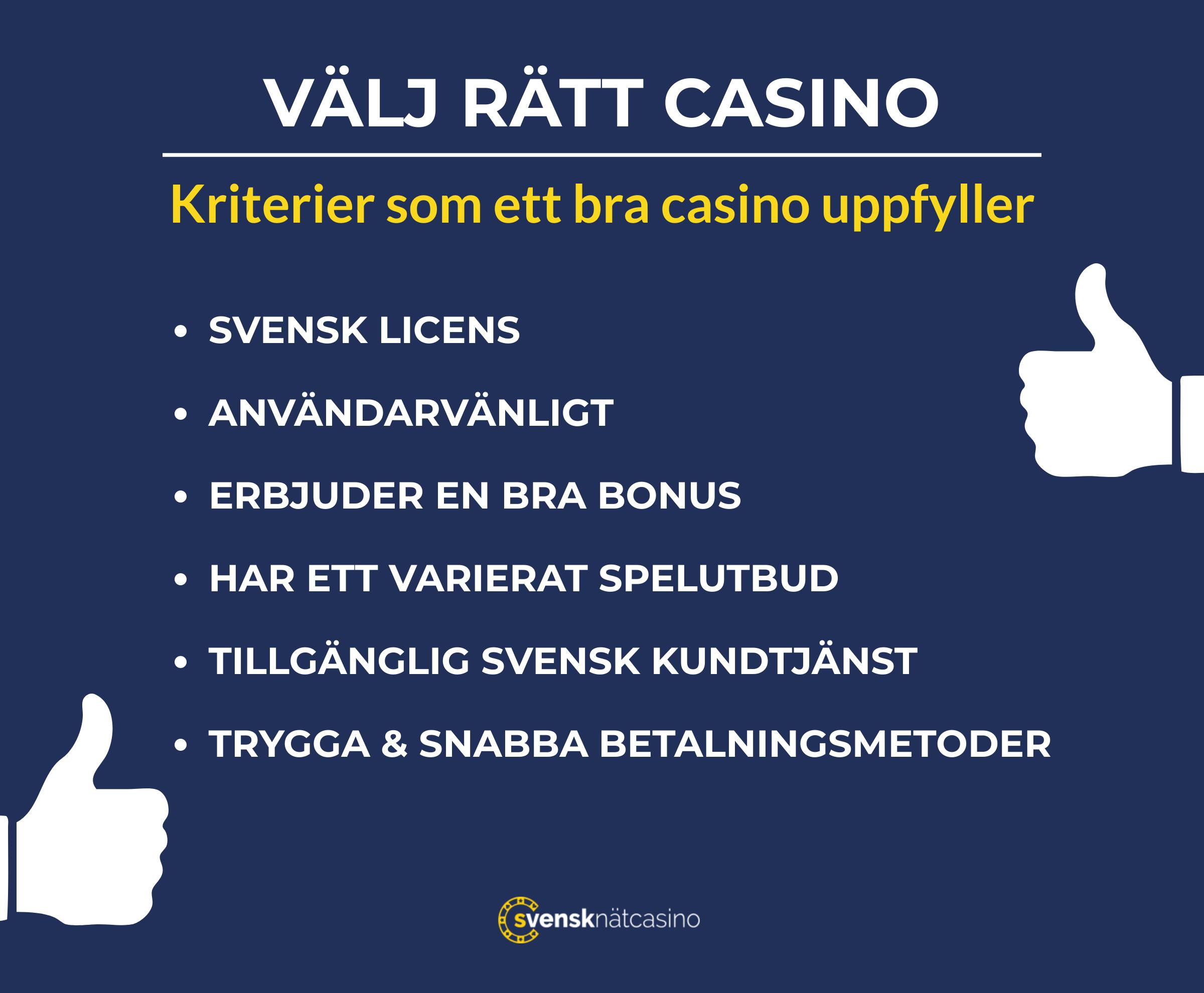 kriterier for att valja ratt natcasino svensknatcasino com