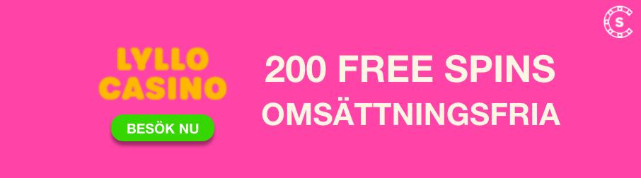 lyllo casino omsattningsfria free spins bonus svensknatcasino