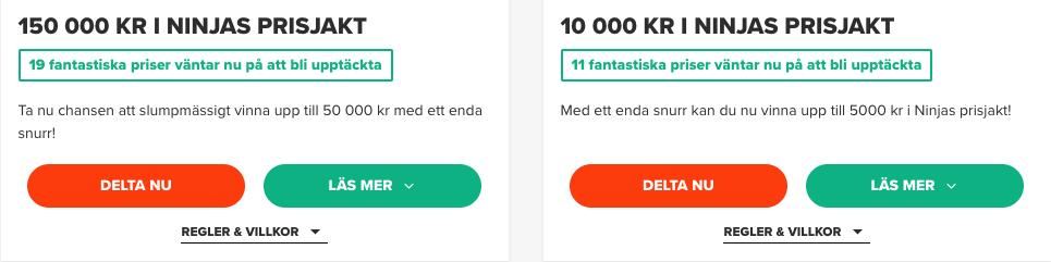 ninja casino erbjudanden nyhet svensknatcasino se banner