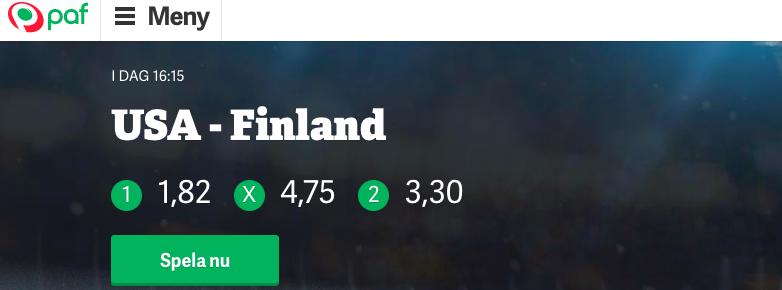 paf betting bingo och casino svensknatcasino se 1