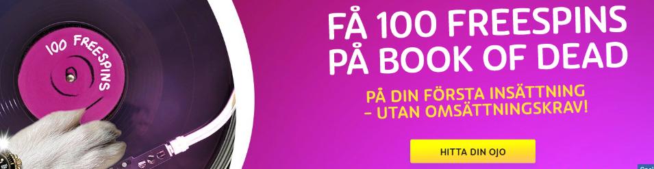playOJO casino 100 free spins omsattningsfritt svensknatcasino se