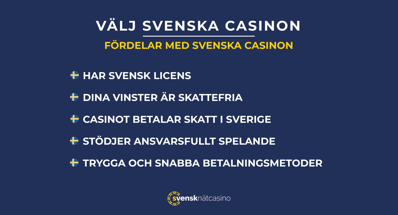 fordelar svenska casinon lista