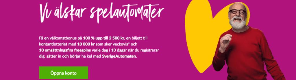 sverigeautomaten nyhetsbanner free spins svensknatcasino se